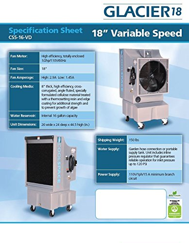 photo Wallpaper of Cool-Space-COOL SPACE CS 16 VD Variable Drive Portable-Gray