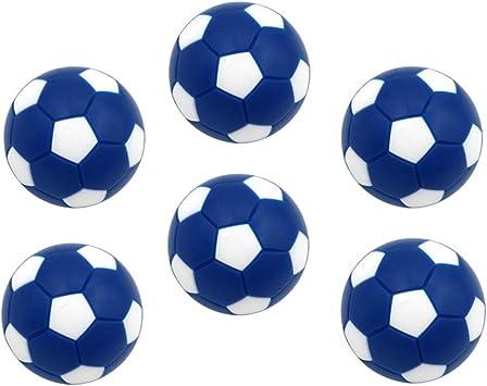 perfeclan 6X Mini Pelotas Fútbol 32mm de Plástico de Tabla Futbolín Reemplazables para Actividades Deportivas Internos - Azul: Amazon.es: Juguetes y juegos