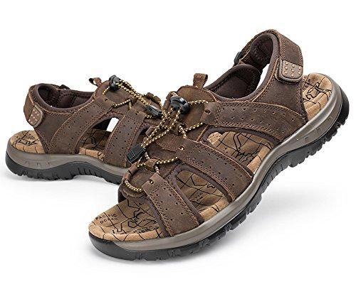 Sportivi da Sandali Uomo DianShaoA Sandali Arrampicata Outdoor Sandalo da Scarpe Scuro da Marrone Fisherman Antiscivolo Arrampicata BY5wndq