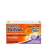 Children's Motrin Children's Motrin Ibuprofen Chewable Tablets for Pain & Fever, Grape, 24 Ct, 24 Count