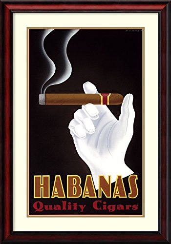 (Framed Art Print, 'Habanas Quality Cigars' by Steve Forney: Outer Size 24 x 34