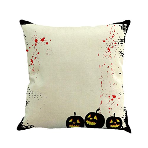 Pillow Case Covers Decorative,Lavany Pillow Cases Cushion Cover Linen Happy Halloween Sofa Home Decor Square