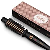 AmoVee Curling Iron 1 Inch, Dual Voltage Travel-Friendly Tourmaline Ceramic Ionic Hair Heated Round Brush, Professional Anti-Scald Instant Heat Up Hot Curling Brush for Long Hair