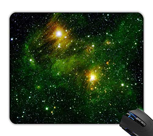 - OTTIET Custom Emerald Nebula Carved Maple Gaming Mouse Pad 9.5 X 7.9 Inch (240mmX200mmX2mm).Non-Slip Thick Rubber Large Mousepad