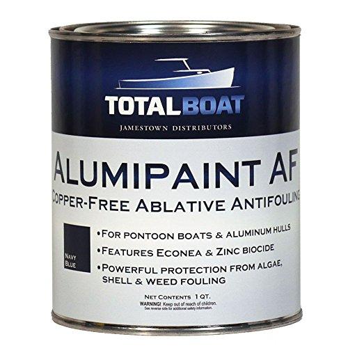 TotalBoat Alumipaint AF Aluminum and Pontoon Boat Bottom Paint (Navy Blue, Quart)