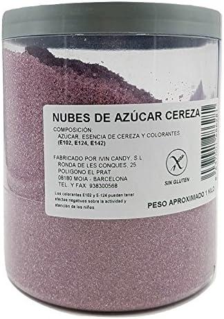 Algodón Nubes de Azúcar Cereza 1 Kg: Amazon.es: Alimentación y bebidas