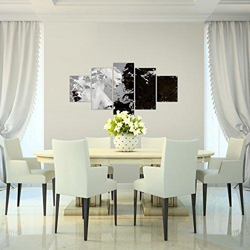 Bilder-Milk-Coffee-Wandbild-Vlies-Leinwand-Bild-XXL-Format-Wandbilder-Wohnzimmer-Wohnung-Deko-Kunstdrucke-100-x-50-cm-Bunt-5-Teilig-100-MADE-IN-GERMANY-Fertig-zum-Aufhngen-301852a