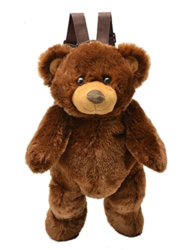 Brown Bear Plush Backpack 19 by Unipak -