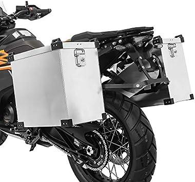 Maletas Laterales Aluminio para KTM 390/790 Duke, 990 Adventure/R/S Namib 40l-35l con Kit de Montaje de portamaletas 18mm