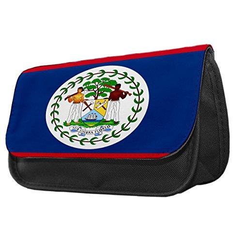 Belize Flagge Bleistift Fall/Make-up Tasche 022