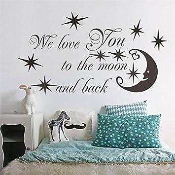 DLYD Lettere Inglesi Applique Stelle Luna Cuore Art Wall ...
