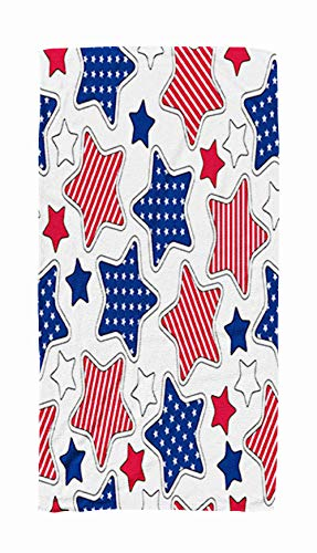Yoga Towel Travel,American Stars and Stripes Pattern 30x60 Inch Large Pool Towels for Body Bath,Swimming,Travel,Camping,Sport ()