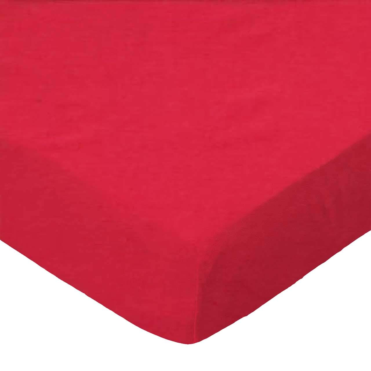 SheetWorld Fitted Bassinet Sheet - Solid Red Woven - Made In USA by sheetworld   B0029ZKGZS