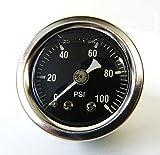 high pressure oil gauge - Mid-USA 100 PSI Oil Pressure Gauge 1/8