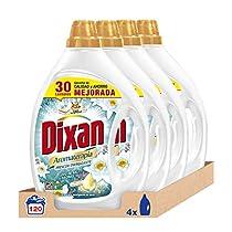 Dixan Detergente Líquido Frescor Energizante - Pack de 4, 120 Lavados (6L)