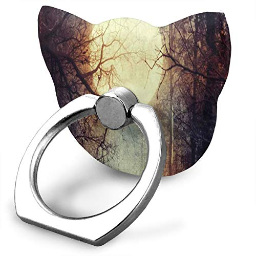 Fashionable Customized Finger Ring Stand Happy Halloween Full Moon 360°Rotation Cell Phone Ring Stand Holder Grip Universal Smartphone Ring ()