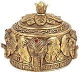 George S. Chen Imports SS-G-88034, Jewelry Holder Thai Elephant Buddha Buddhist Collectible Decoration