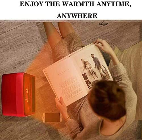 HLJ Kleine huishoudelijke apparaten Elektrische vuurhaard kachels mini luchtverhitters met afstandsbediening en oververhitting