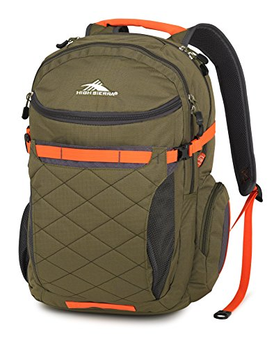 High Sierra Broghan Backpack, Moss/Mercury/Electric Orange