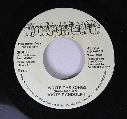 """Price comparison product image Boots Randolph 45 RPM I Write The Songs / Motherland/Oluwa (Many Rains Ago) Theme From """"Roots"""""""