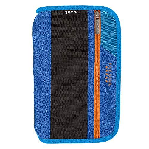 Five Star Xpanz Zipper Carrying Case / Pouch for Pencil, Pen, Supplies - Puncture Resistant, Blue/Orange -