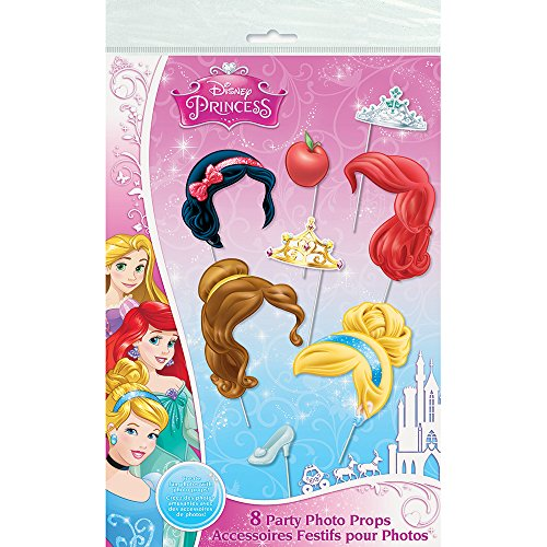 Disney Princess Photo Booth Props, (Birthday Party Games Halloween Theme)
