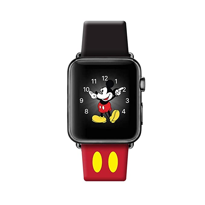 Piel Apple Watch Band 38 mm iWatch Disney Mickey Mouse oídos ...