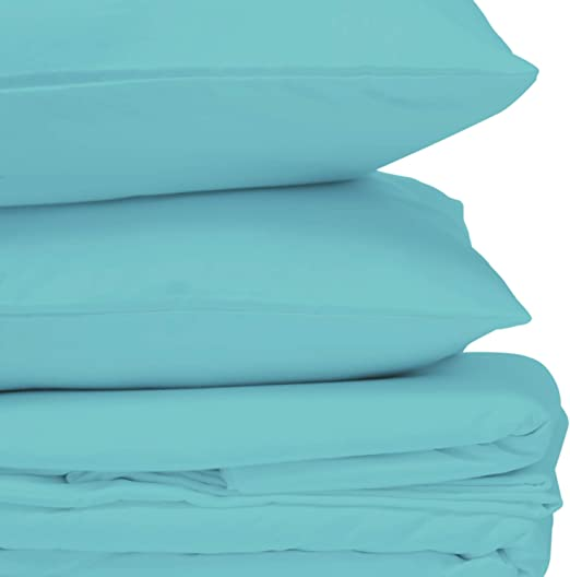 Queen Turquoise Solid 4pc Bed Sheet Set 1000 Thread Count 100/% Egyption Cotton