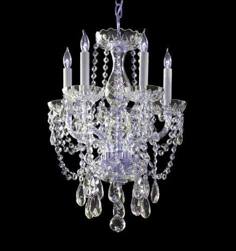 Crystorama Traditional 5 Light Swarovski Strass Crystal Mini Chandelier