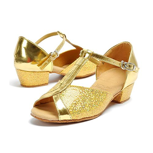 Gold amp; Party Kunstleder Größe Schuhe XUE Ein Low B Latein Ballsaal Heel Silber Abend Damen Schuhe Sandale 39 Farbe Tanzschuhe qn7SPO