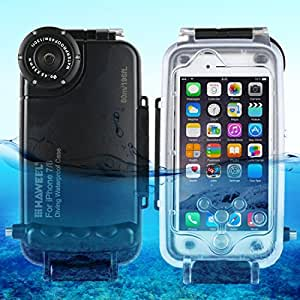 For cellphone Cases, HAWEEL for iPhone 8 & 7 40m/130ft Waterproof Diving Housing Photo Video Taking Underwater Cover Case ( Size : Hwl2602b )