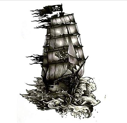 ruofengpuzi Adesivo tatuaggioTatuaje Perla Negra De La Perla del ...