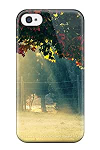 Fashion Tpu Case For Iphone 4/4s- Autumn Morning Defender Case Cover