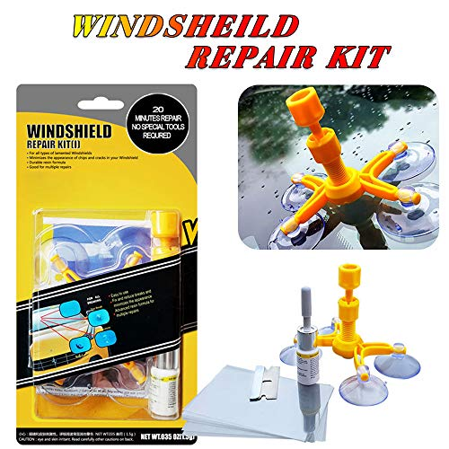 - Yoohe Car Windshield Repair Kit - Windshield Chip Repair Kit with Windshield Repair Resin for Fix Auto Glass Windshield Crack Chip Scratch