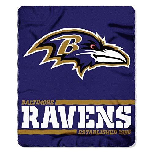 Northwest NFL Baltimore Ravens 50×60 Fleece Split Wide DesignBlanket, Team Colors, One Size