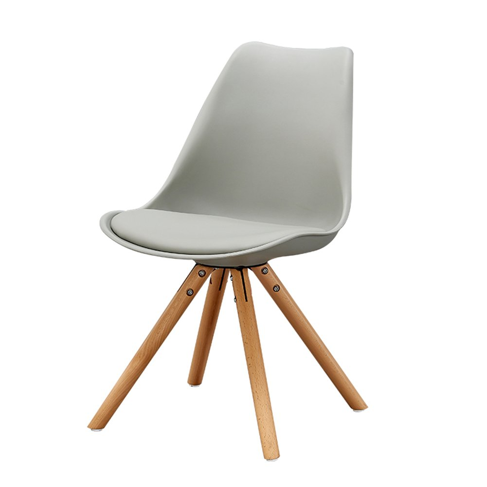 背もたれカジュアルウッドダイニングチェア家庭用カフェ西洋料理ホテルアダルト近代的なシンプルな北ヨーロッパの椅子 (色 : グレー, サイズ さいず : Set of 2) B07F3PB5QR Set of 2|グレー グレー Set of 2
