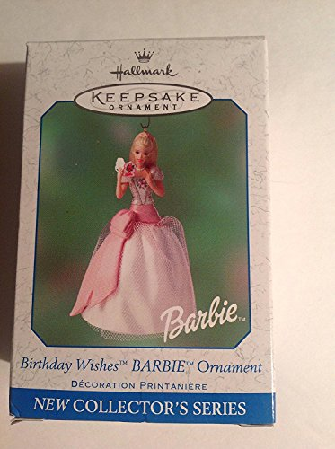 QEO8575 Birthday Wishes Barbie Ornament 1st 2001 Hallmark Keepsake Ornament