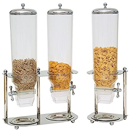 Piazza – Dosificador Dispensador de Cereales de Acero Inoxidable 20 x 38 cm H: 55