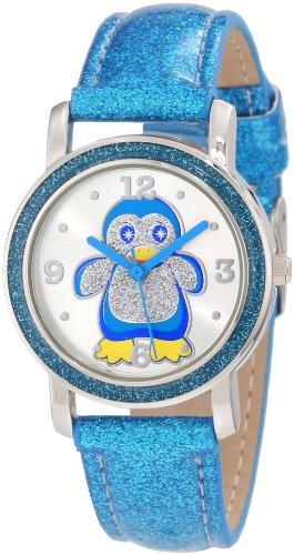 Frenzy Kids' FR462 Blue Glitter Strap Penguin Watch