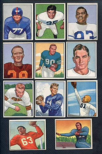 1950 Bowman Football Part Set Lot 58 Diff EX+/EX-MT Albert 366626 Kit Young Cards