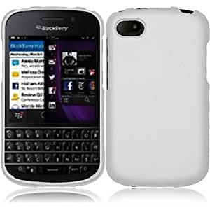 HR Wireless Blackberry Q10 Rubberized Protective Cover - Retail Packaging - White