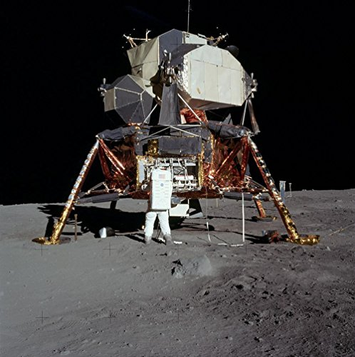 Lunar Lander Moon - LAMINATED 24x24 inches POSTER: Moon Landing Apollo 11 Buzz Aldrin Lunar Moon Luna Lander Space Probe Research Nasa Science Progress Space Shuttle Forward Technology Aviation Space Travel
