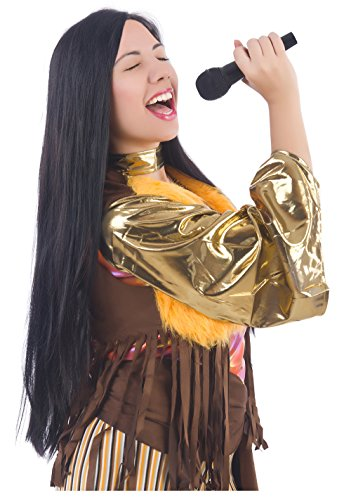 r Wig Sonny and Cher Costume Wigs Sonny Bono Costume Wig Black ()