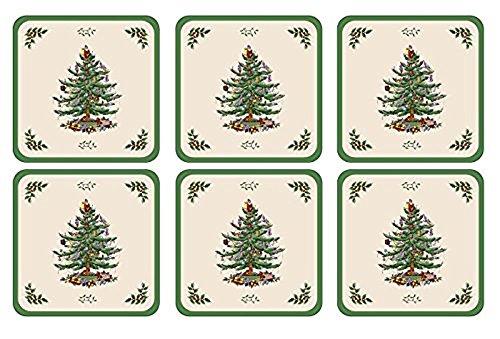 (Spode Christmas Tree Hardback Coasters, Set of)