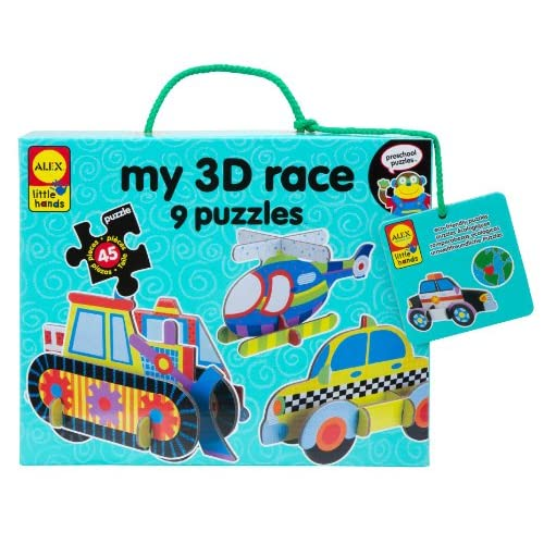 Hot ALEX Toys Little Hands My 3D Race Puzzles free shipping
