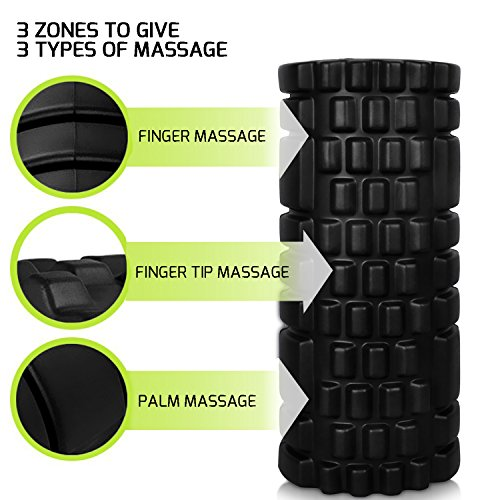 Foam Roller Muscle Roller for Trigger Point Massage and Recovery, Friendly EVA Massage roller For Physical Therapy 13'' x 5.5''