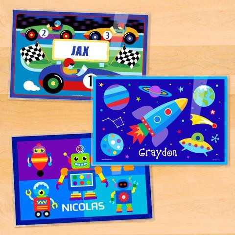 Olive Kids Boys Personalized Placemat 3 Pack ()