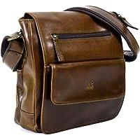 Mochila estilo Bolso de Hombro de Piel Genuina Flyer AG Leather