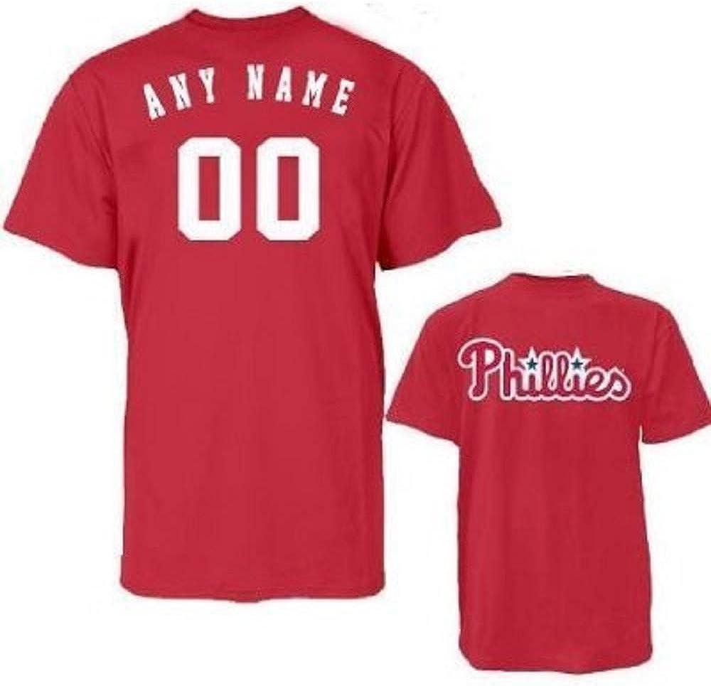 Majestic Phillies Adult Evolution Tee T-Shirt Size Medium Red
