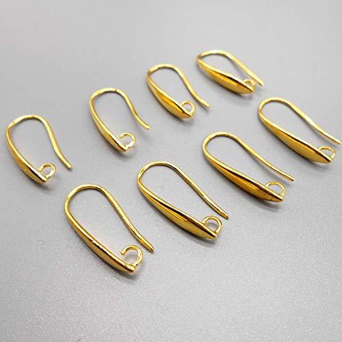 FidgetKute 50-100PC DIY Jewelry Findings Gold Earring Pinch Hooks Earwire for Crystal Pearl 50PCS